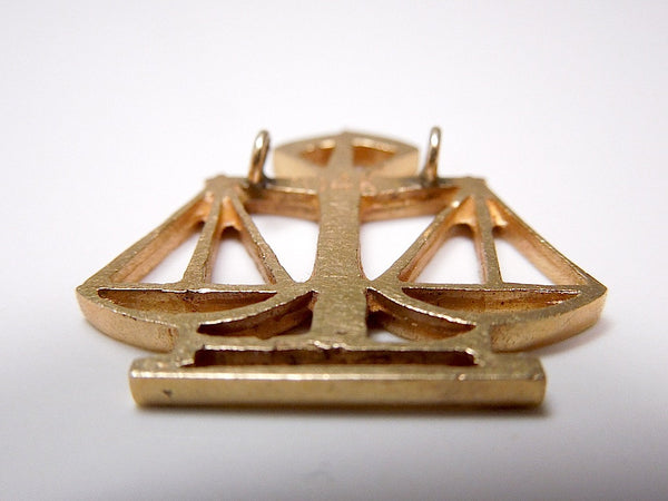 14k Gold Scales of Justice Pendant