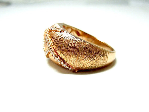 Vintage Rose Gold Vermeil - Diamond - Right Hand Ring
