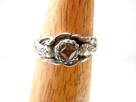 Renaissance Spanish Dolphin Ring - White Sapphire and Sterling