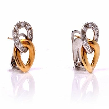 Chimento Italian 18K Gold and Diamond Earrings