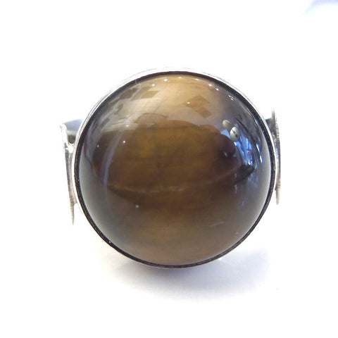 Sterling Silver and Tigers Eye Adjustable Ring