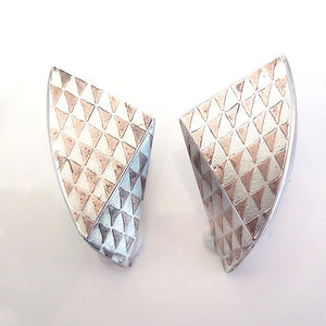 Artist Made Pyramid Earrings in Sterling Silver