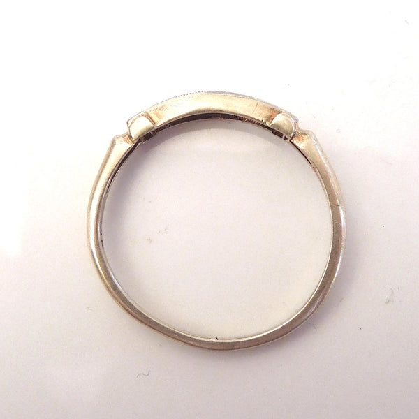 Engraved Gold and Diamond Band