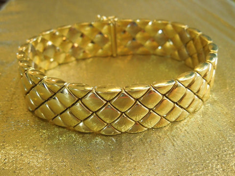 18K Italian Yellow Gold Omega Watch Company Bracelet