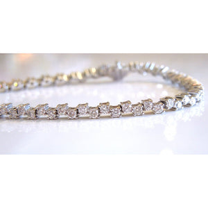 Nearly Three Carat Diamond Tennis Bracelet in White Gold