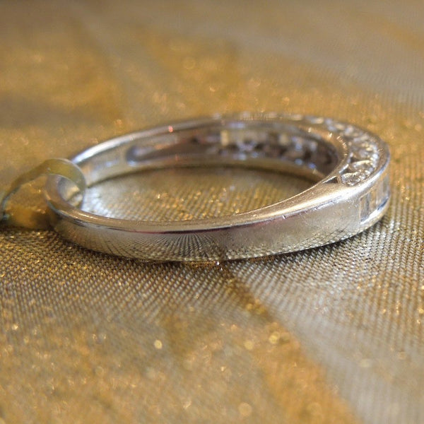 Baguette Diamond Wedding Band in 18K White Gold