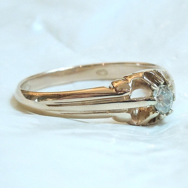Victorian Fifth of a Carat Diamond Ring in Yellow Gold