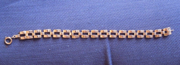 7 inch 1950s Yellow Gold Link Bracelet