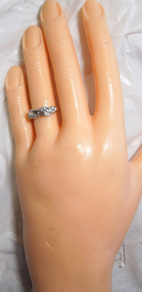 Vintage Diamond Band in Platinum with Baguettes