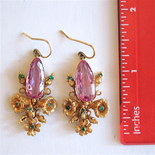 Fine Antique Georgian (c. 18th century) Drop Earrings in 18K
