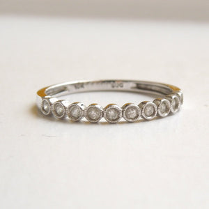 10K White Gold Diamond Anniversary/Wedding Band