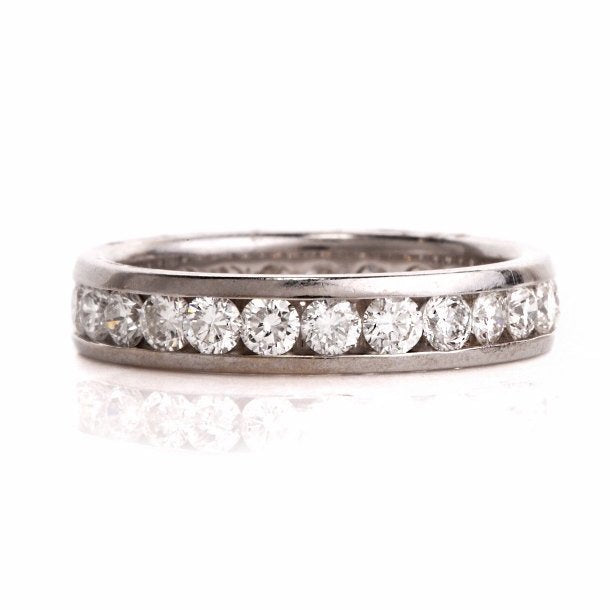 1.75 ct Diamond Eternity Wedding Band in 18K White Gold