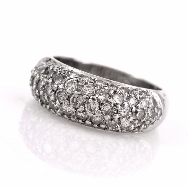 Pave Diamond Dome Ring in Platinum
