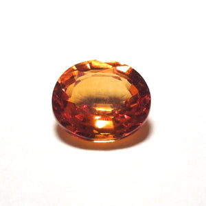1.3 ct Rich Orange Oval Cut Sapphire