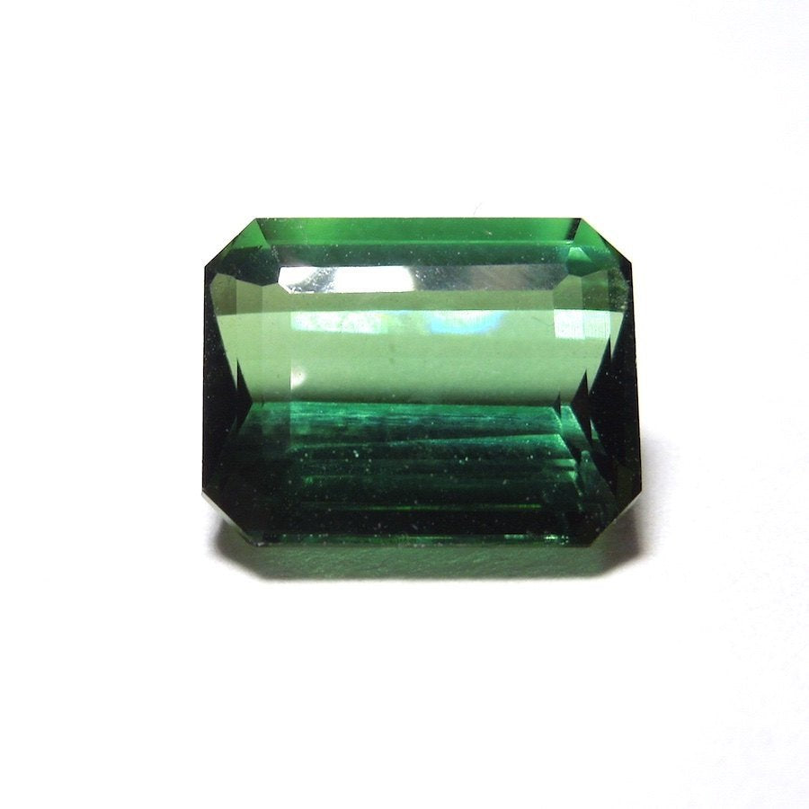 2.4 ct Emerald Cut Forest Green Tourmaline