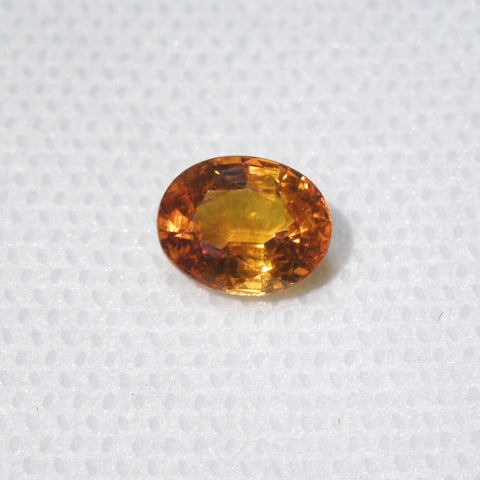 2.03 ct Golden Orange Oval Cut Sapphire