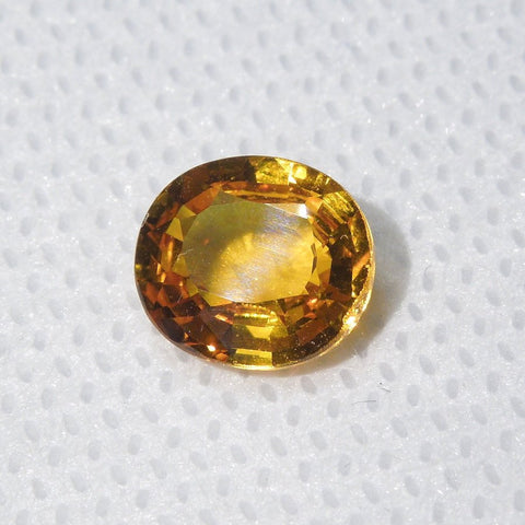 2.38 ct Vivid Orange Oval Cut Sapphire