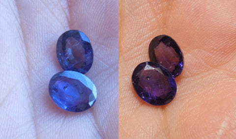 Color Change Sapphires - Blue/Purple Natural change