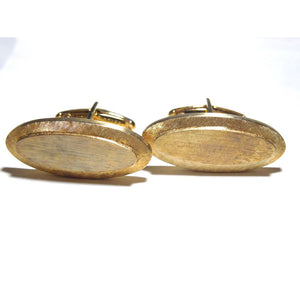 1950s Lucien Piccard Oblong Oval Gents Cufflinks in Original Box