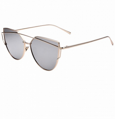 Ultra Mirrored Double Bar Sunglasses - Silver