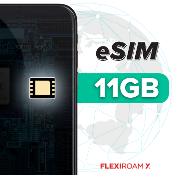 Global 11 GB Data Plan + eSIM Activation (valid for 360 days)