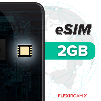 2GB Global Data Plan + eSIM (valid for 100 days)