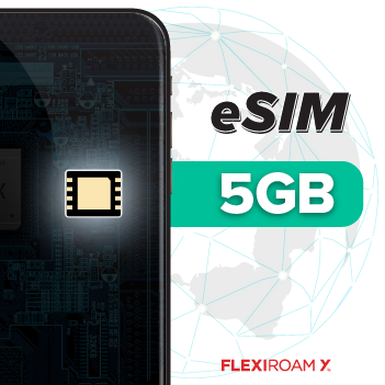 Global 5 GB Data Plan + eSIM Activation (valid for 180 days)