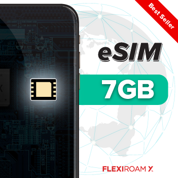 Global 7 GB Data Plan + eSIM Activation (valid for 360 days)