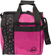 SaVi Pink Hearts Single Bowling Bag Tote