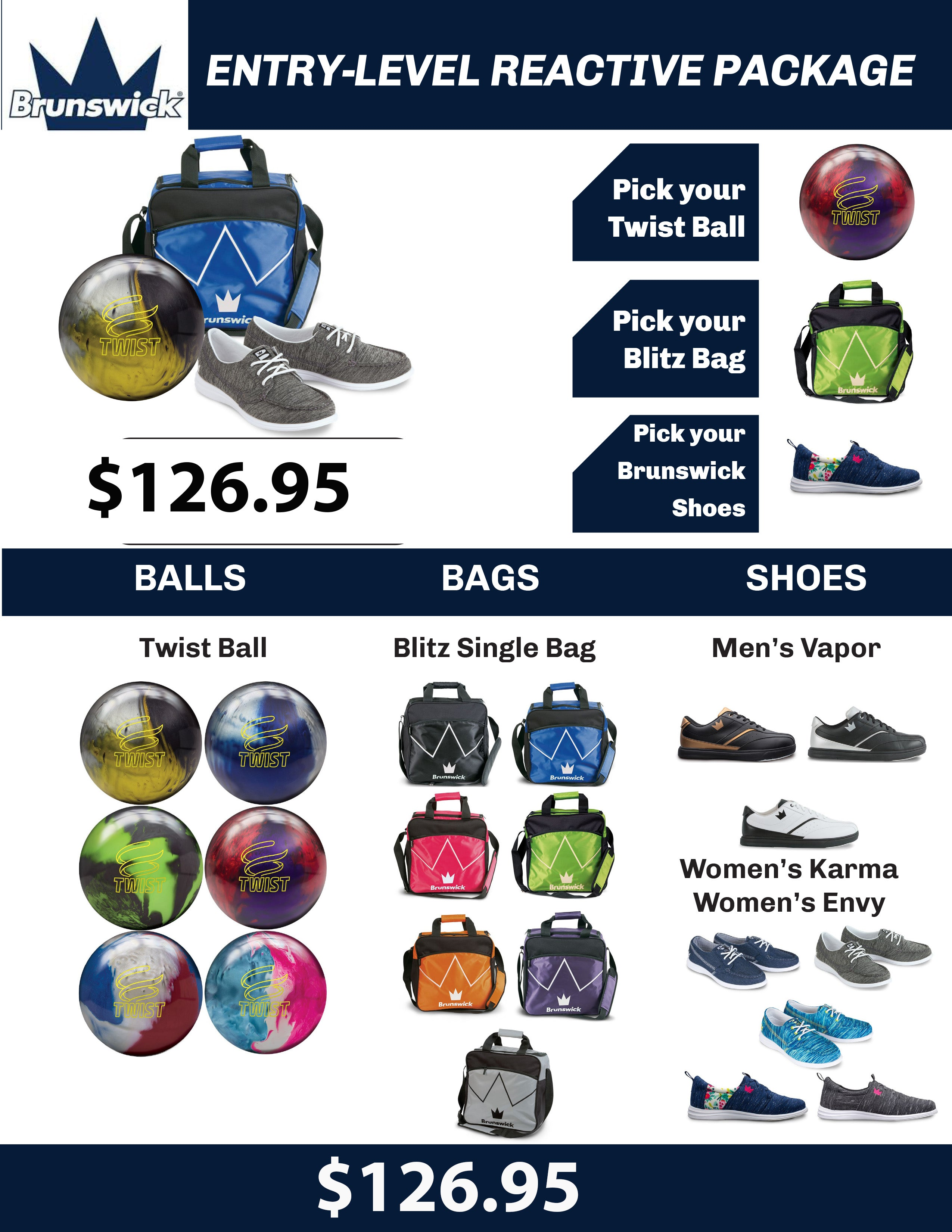Brunswick Entry Level Bowling Package
