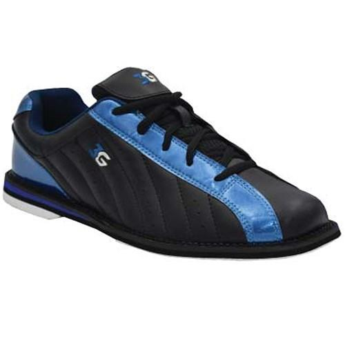 3G Unisex Kicks Black Metallic Blue Bowling Shoes-DiscountBowlingSupply.com