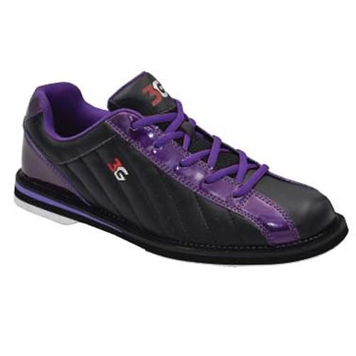 3G Unisex Kicks Black Purple Bowling Shoes-DiscountBowlingSupply.com
