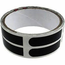 Brunswick 1/2'' Black Thumb Insert Bowling Tape 100 Roll-DiscountBowlingSupply.com