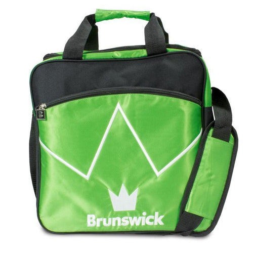 Brunswick Blitz Single Tote Lime Bowling Bag-DiscountBowlingSupply.com