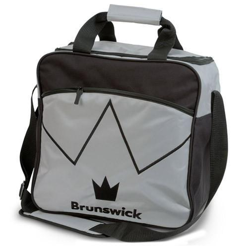 Brunswick Blitz Single Tote Silver - DiscountBowlingSupply.com