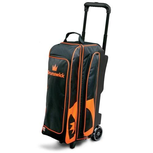 Brunswick Blitz Triple Roller Black Orange - DiscountBowlingSupply.com