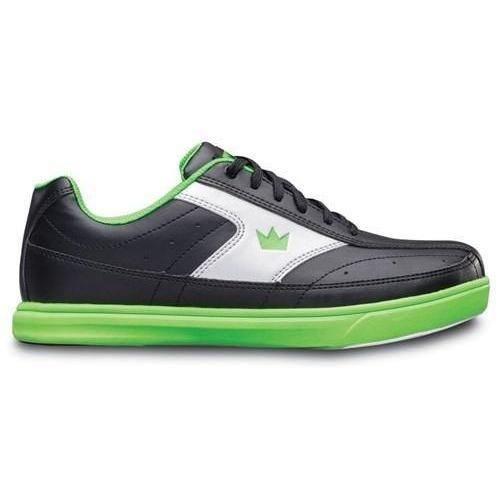 Brunswick Boys Renegade Black Neon Green Bowling Shoes - DiscountBowlingSupply.com