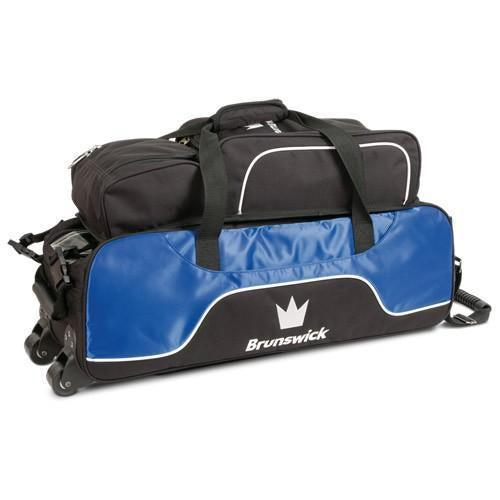 Brunswick Crown Triple Tote Plus Royal-Bowling Bag-DiscountBowlingSupply.com