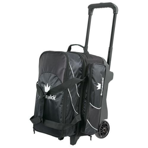 Brunswick Edge Double Roller Black-Bowling Bag-DiscountBowlingSupply.com