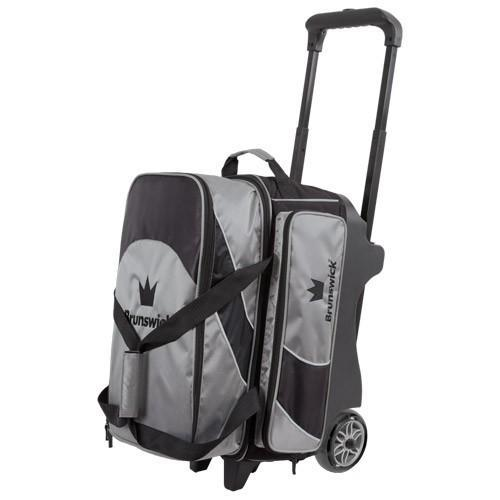 Brunswick Edge Double Roller Silver-Bowling Bag-DiscountBowlingSupply.com