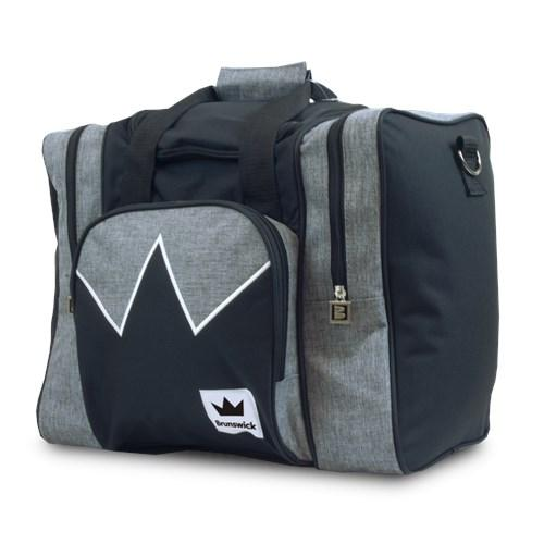 Brunswick Edge Single Tote Grey Black Bowling Bag-DiscountBowlingSupply.com