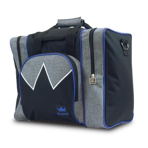 Brunswick Edge Single Tote Grey Royal Bowling Bag-DiscountBowlingSupply.com