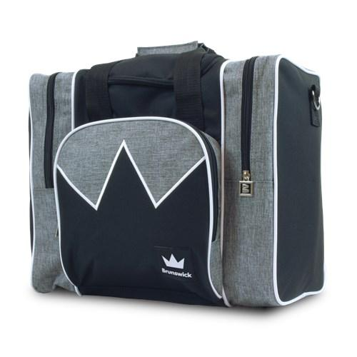 Brunswick Edge Single Tote Grey White Bowling Bag-DiscountBowlingSupply.com
