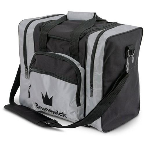 Brunswick Edge Single Tote Silver-Bowling Bag-DiscountBowlingSupply.com