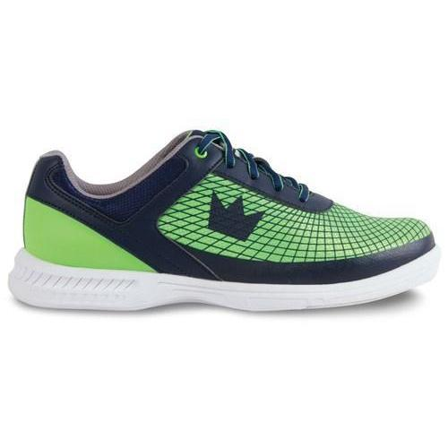 Brunswick Mens Frenzy Navy Green Bowling Shoes - DiscountBowlingSupply.com