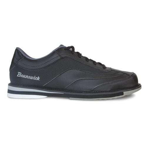 Brunswick Mens Rampage Interchangeable Right Hand Black Wide Width Bowling Shoes-DiscountBowlingSupply.com
