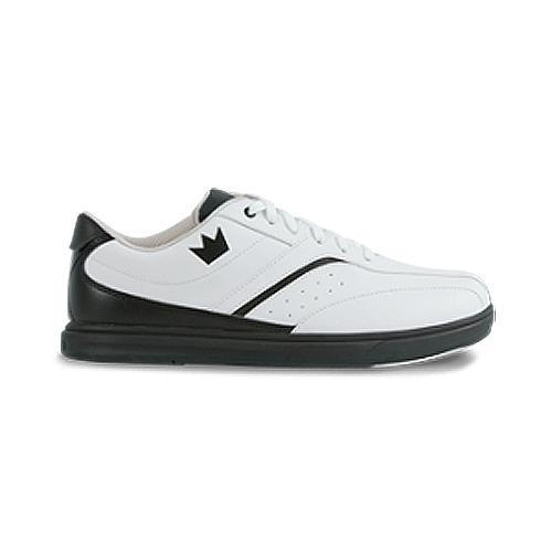 Brunswick Mens Vapor White Black Bowling Shoes - DiscountBowlingSupply.com