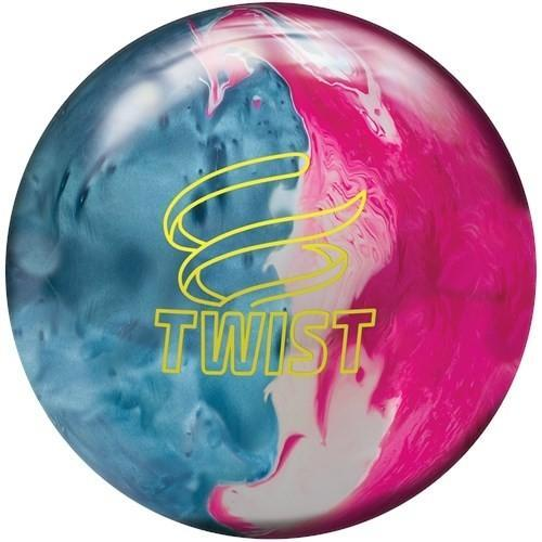 Brunswick Twist Sky Blue Pink Snow Bowling Ball - DiscountBowlingSupply.com