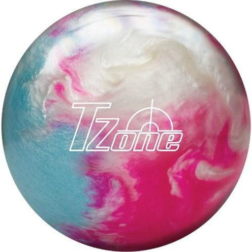 Brunswick TZone Frozen Bliss Pink White Sky Blue Bowling Ball - DiscountBowlingSupply.com