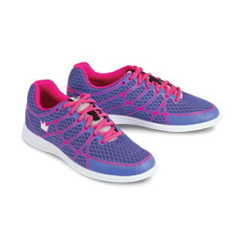 Brunswick Womens Aura Purple Pink Bowling Shoes - DiscountBowlingSupply.com